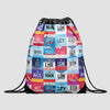 UK Airports - Drawstring Bag
