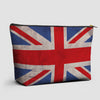 UK Flag - Pouch Bag - airportag  - 1