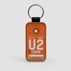 U2 - Leather Keychain - Airportag