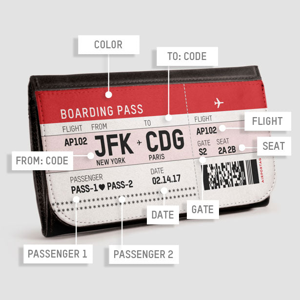 Valentine S Boarding Pass Wallet Airportag