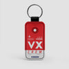 VX - Leather Keychain - Airportag
