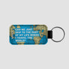 Can We Just - World Map - Leather Keychain - Airportag