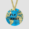 Fly Away - World Map - Ornament - Airportag