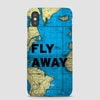Fly Away - World Map  - Phone Case - Airportag