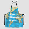 I Haven't Been - World Map - Kitchen Apron - Airportag