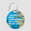 I Haven't Been - World Map - Luggage Tag - Airportag
