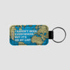 I Haven't Been - World Map - Leather Keychain - Airportag