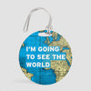I'm Going - World Map - Luggage Tag - Airportag