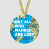 Not All Who - World Map - Ornament
