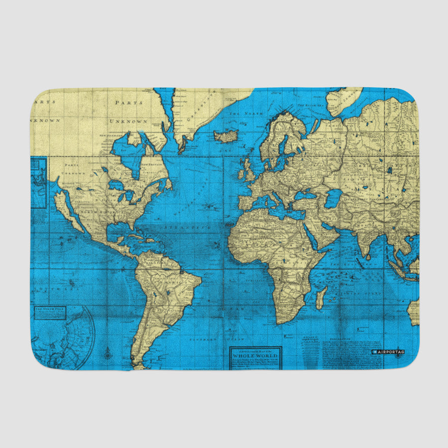 Unique aviation and travel themed bath mats airportag world map bath mat gumiabroncs Image collections