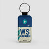 WS - Leather Keychain - Airportag