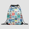 XXL Airports USA - Drawstring Bag - Airportag