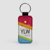 YLW - Leather Keychain - Airportag
