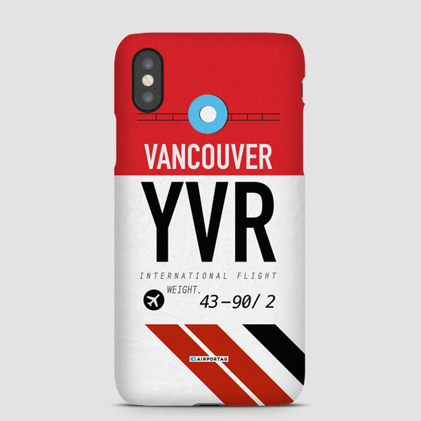 Airport Code Phone Case Iata Code Yvr Mobile Cover