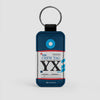 YX - Leather Keychain - Airportag