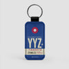 YYZ - Leather Keychain - Airportag