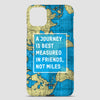 A Journey is - World Map - Phone Case airportag.myshopify.com