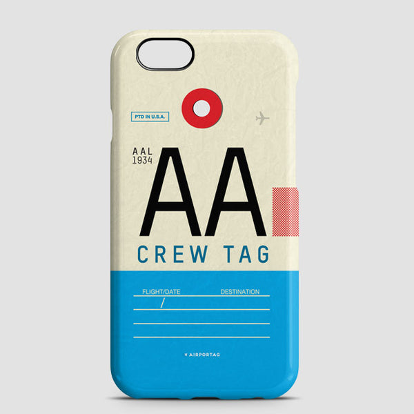 Phone Case Aa American Airlines Crew Tag Iata Code