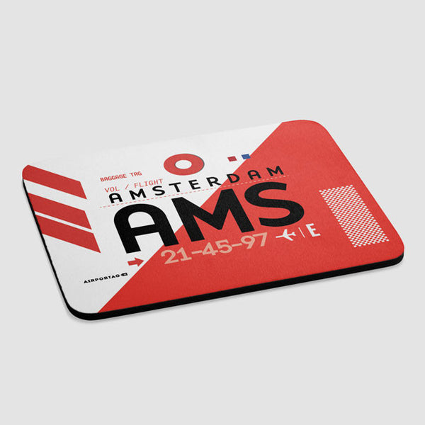 Ams Schiphol Airport Amsterdam Netherlands Mousepad