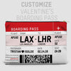 Valentine's Boarding Pass - Pouch Bag - airportag  - 4