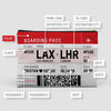 Valentine's Boarding Pass - Pouch Bag - airportag  - 3