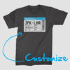 Boarding Pass Ticket - Custom T-shirt