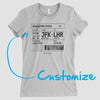 Boarding Pass - Custom Women's Tee - Airportag