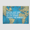 Can We Just - World Map - Rectangular Rug airportag.myshopify.com