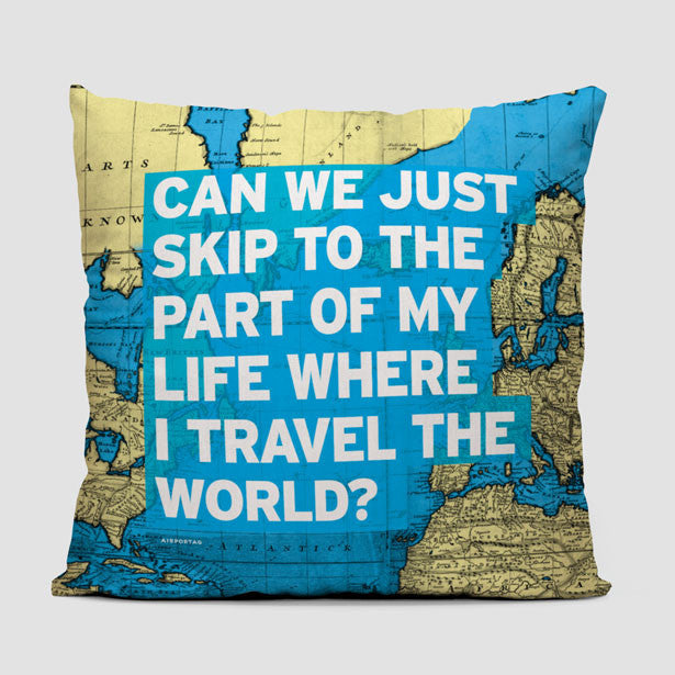 World map and travel quotes products tagged throw pillow can we just world map throw pillow airportag gumiabroncs Images