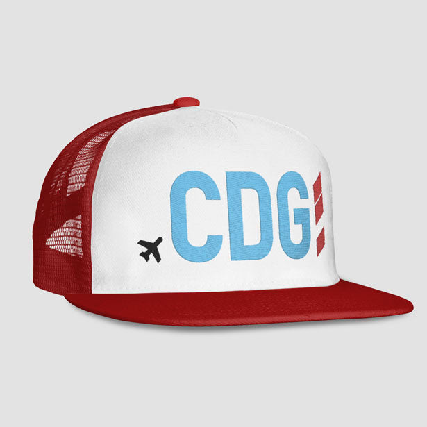 CDG - Trucker Cap - Exclusive airport code caps for travel lovers ... a966f5f62a0d