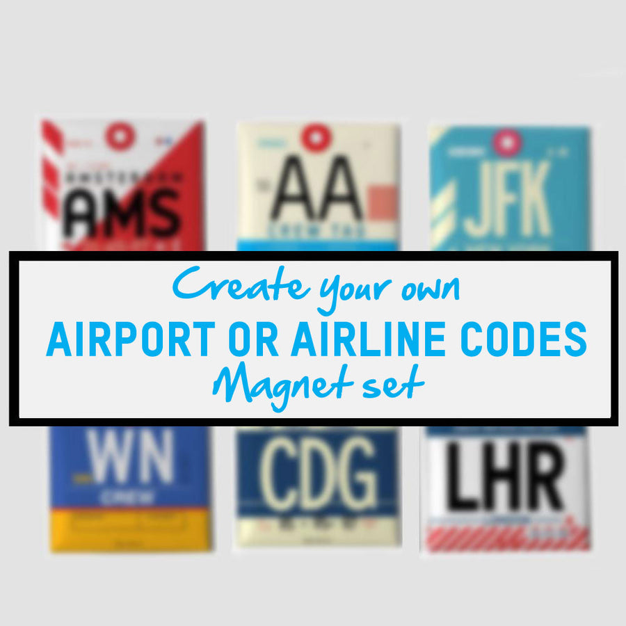 Travel Magnets - Airport Codes - Travel Quotes | Airportag