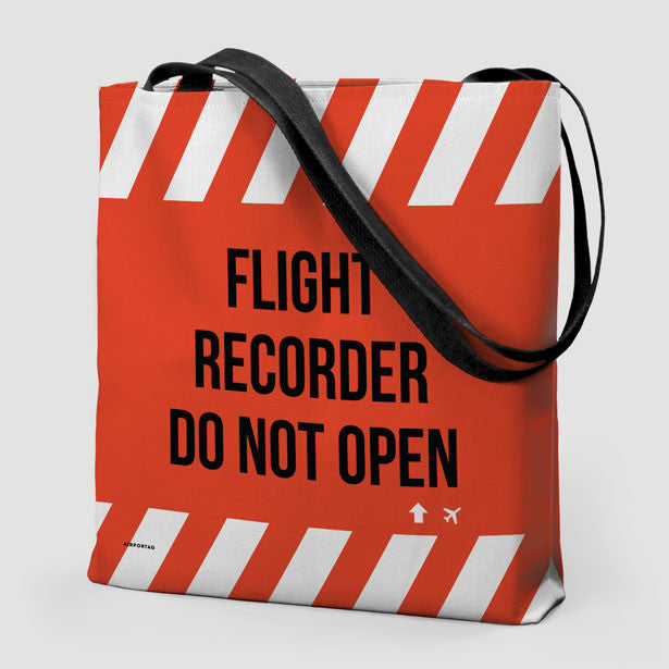 Tote Bag - Flight Recorder Do Not Open – Airportag 0f72649eb6d17