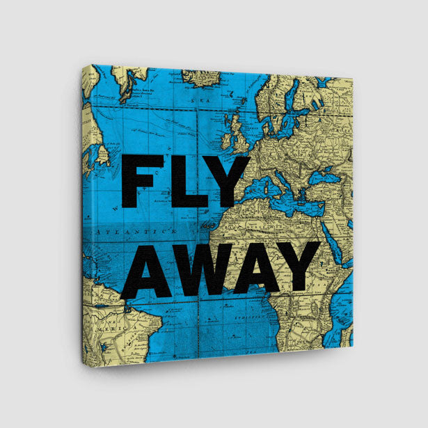 World map and travel quotes products airportag fly away world map canvas airportag gumiabroncs Choice Image