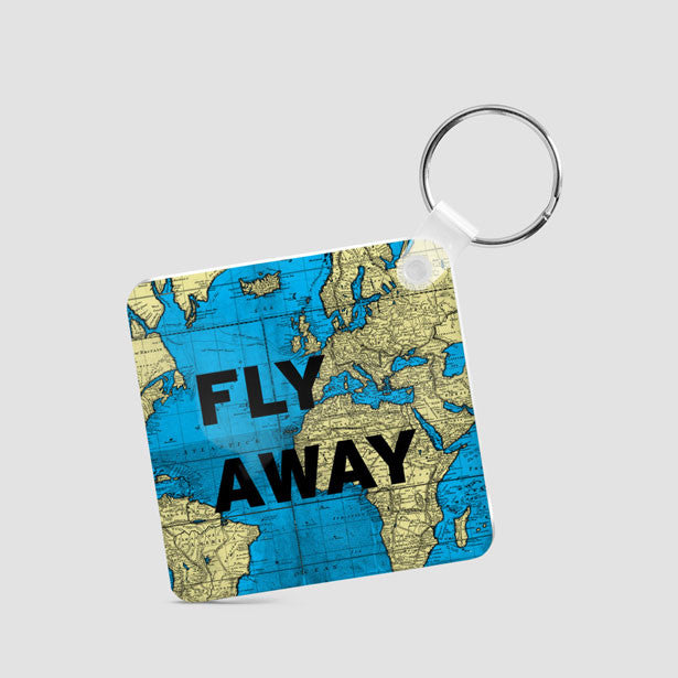 Keychains tagged world map airportag fly away world map square keychain airportag gumiabroncs Gallery