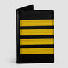 Black Pilot Stripes - Passport Cover airportag.myshopify.com