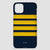 Navy Pilot Stripes Gold - iPhone Case