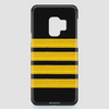 Black Pilot Stripes Gold - Phone Case