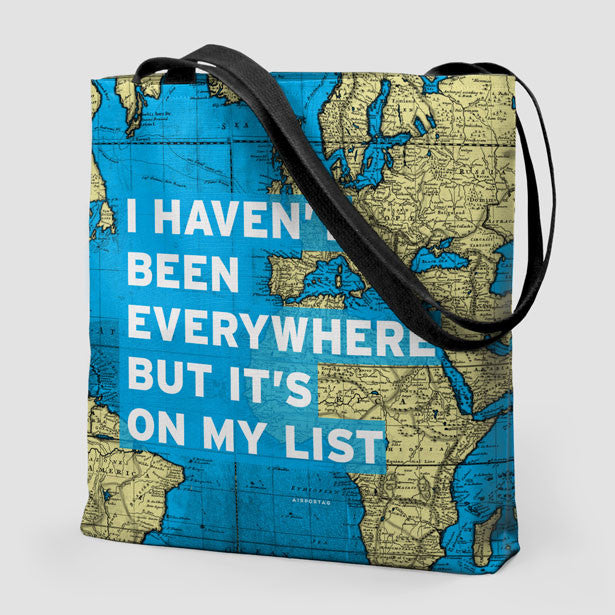 Carry on tote bags that fit your needs in any kind of travel i havent been world map tote bag airportag 1 gumiabroncs Choice Image