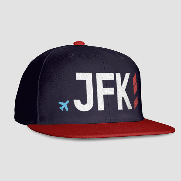JFK - Airport code Snapback Cap - Exclusive hats for travel lovers ... d43066218b25
