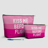 Kiss Me Before Flight - Pouch Bag - airportag  - 3