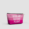 Kiss Me Before Flight - Pouch Bag - airportag  - 2