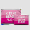 Kiss Me Before Flight - Pouch Bag - airportag  - 6