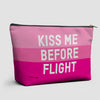 Kiss Me Before Flight - Pouch Bag - airportag  - 1