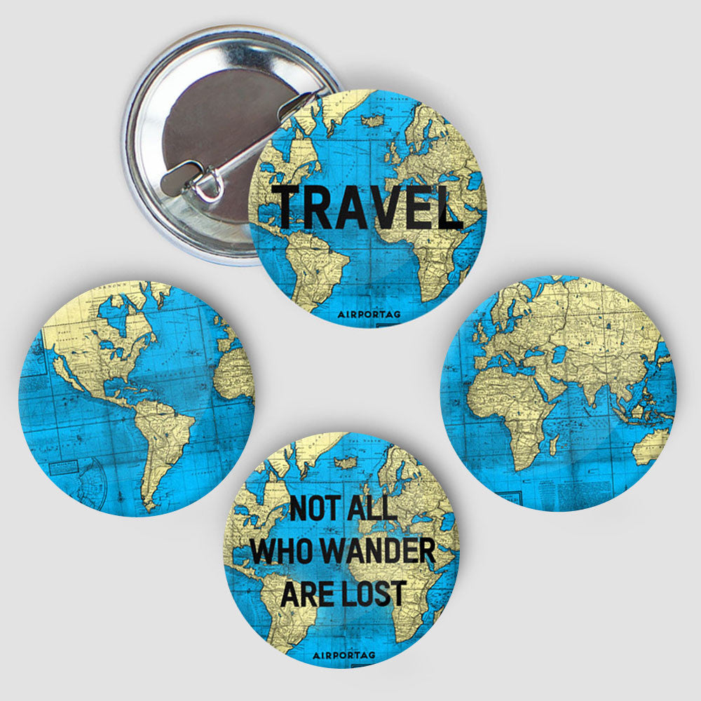 World Map - Button Pack