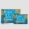 Love is Being - World Map - Pouch Bag - airportag  - 6
