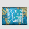 Love is Being - World Map - Pouch Bag - airportag  - 4