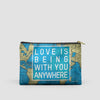 Love is Being - World Map - Pouch Bag - airportag  - 5