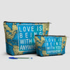 Love is Being - World Map - Pouch Bag - airportag  - 3