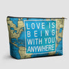 Love is Being - World Map - Pouch Bag - airportag  - 1
