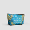 Love is Being - World Map - Pouch Bag - airportag  - 2